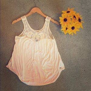 AE White lacy top tank